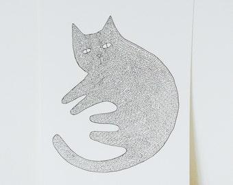 Cat A4 Signed Print