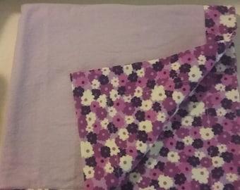 Baby Receiving Blanket, Flannel Baby Blanket, Floral Receiving Blanket, Baby Girl Receiving Blanket