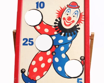 Clown Bean Bag Toss Game/Art