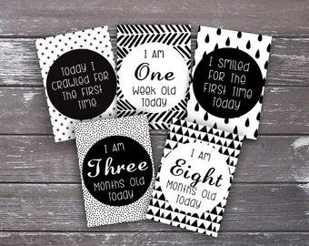 Baby Milestone Cards A6,Baby Shower Gift,New Baby,Baby Keepsake,Baby Milestone
