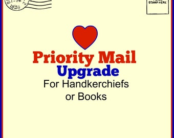 Priority Mailing Option for Books and Handkerchiefs