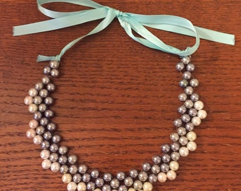 Sewn Pearl Necklace