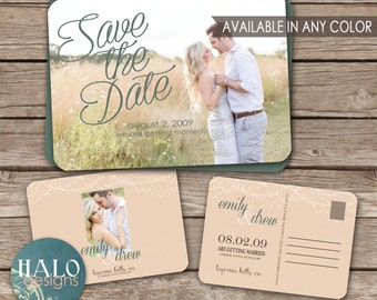 Wedding Save the Date Postcard - printable card
