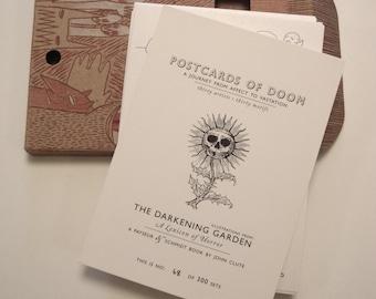 John Clute, Postcards of Doom: From Affect to Vastation, illustration, art, Darkening Garden, Lexicon of Horror book, limited edition