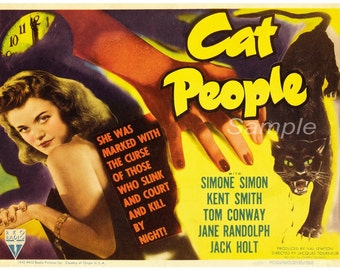 Vintage Cat People Movie Poster Print