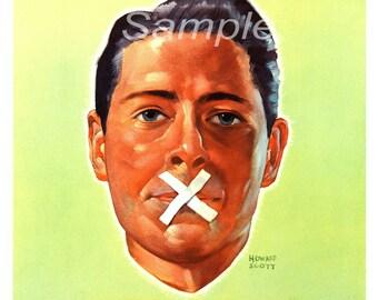 Vintage Loose Talk Can Cost Lives War Poster Print