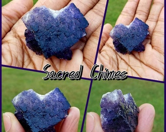 Raw Purple and Blue Fluorite Cluster Crystal Rocks Stones Minerals Point Cluster Home Garden