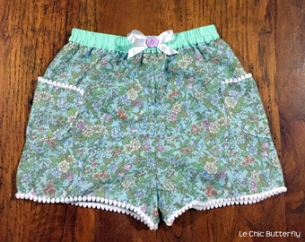 Floral Shorts for Girls Size 3