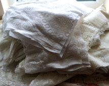 Lot of cotton lace pieces for projects <1kilo weight Lace supplies cotton lace fabric projects crafts cheap UK post only 2 pounds