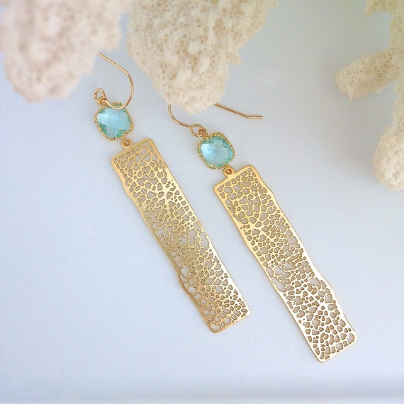 Items similar to kairi earrings gold coral earrings sea for Sell gold jewelry seattle
