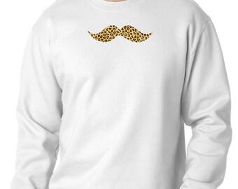 Leopard Mustache Sweater