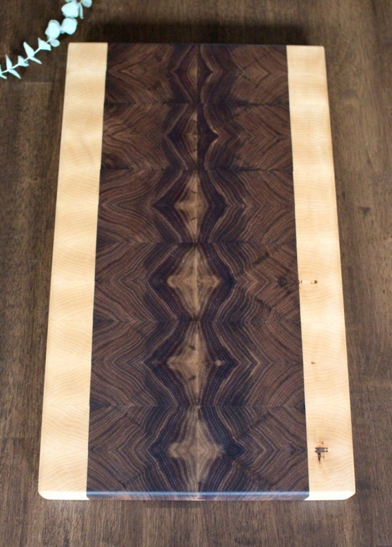Block Board Usage ~ End grain walnut cutting board butcher block serving