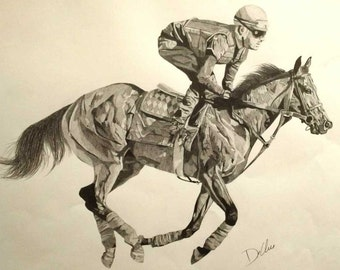 American Pharaoh- graphite on paper