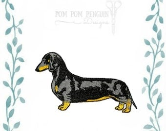 Short Haired Dachshund embroidery design in 9 formats instant download for 4x4 and 5x7 hoop (009)