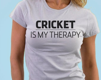 Cricket is my therapy T-shirt - 821