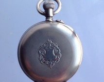 Lady Racine pocket watch antique sterling silver