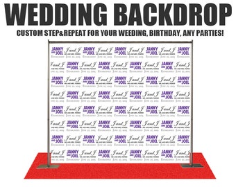 Wedding Photo Booth Backdrop -Wedding Photo Booth Backdrop, Step and Repeat Backdrop,Wedding backdrop, Birthday Backdrop, Event Backdrop,