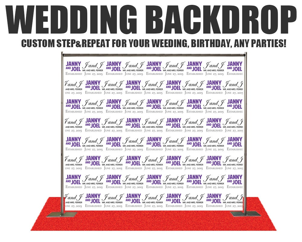 wedding photo booth backdrop wedding photo booth backdrop step and repeat backdrop wedding. Black Bedroom Furniture Sets. Home Design Ideas