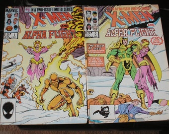 X-Men/Alpha Flight The Gifts #1 #2 1985 Intro The Berserkers Good+ Condition