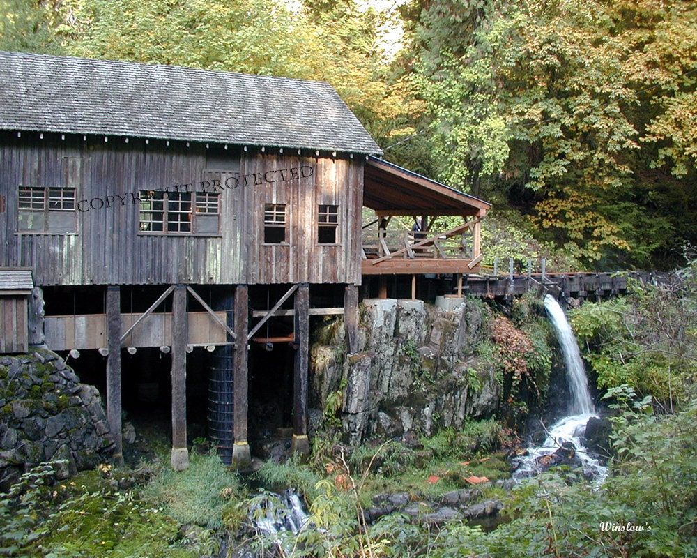 Cedar creek grist mill 505 landscape washington fine art for The cedar mill