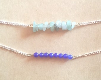 Delicate Beaded Row Layering Necklace
