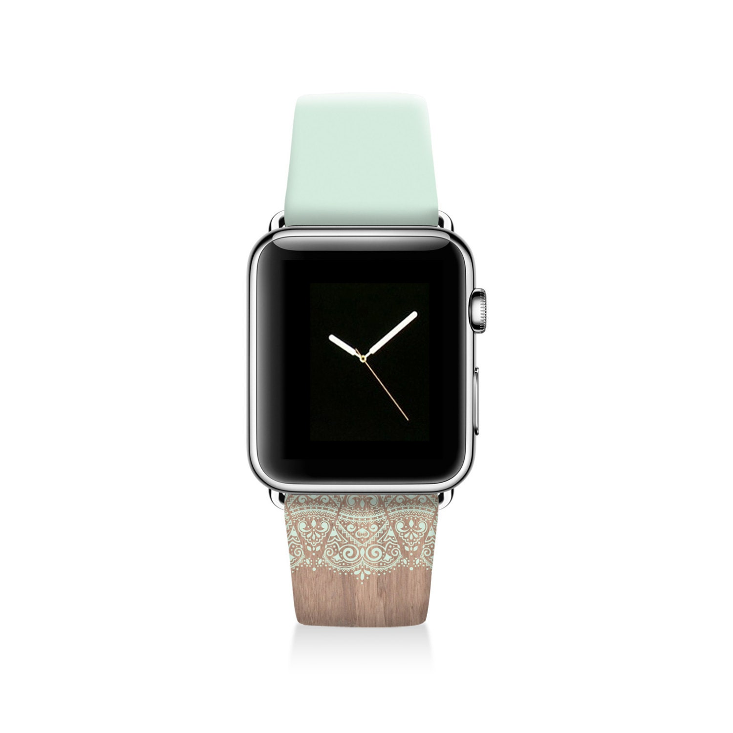 Lace Apple watch band genuine leather band women by Agathecase