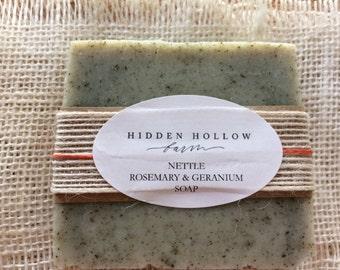 Nettle Rosemary & Geranium Soap