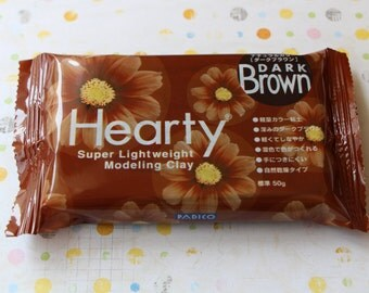 Hearty Super Lightweight Modeling Clay (Dark brown) 50g