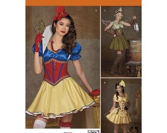 Sewing Pattern for Fantasy Costumes for Misses, Cosplay Costumes, Simplicity Pattern 1093, Halloween Costume, Plus Sizes