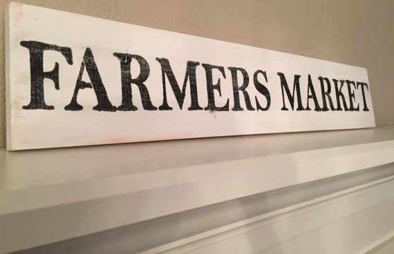 Distressed Handmade Wood Farmers Market Sign- made to order/custom | Fixer Upper | HGTV |
