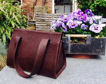 Unique handmade leather handbag