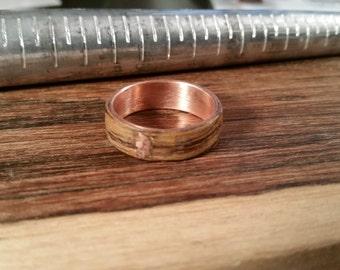 Beautiful Bentwood Ring handmade from Exotic Bocote Wood