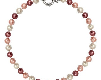 Necklace beads of Pearl gradient of roses