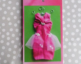 100 BOUTIQUE CLOTHING/ACCESSORIES Fashion Price Tags Pink  Dress with Pearls on Green Tags And Plastic Loop Pins at Etsy