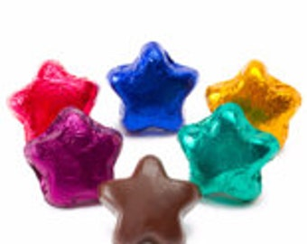 Foiled Milk Chocolate Star - 5LB Bag