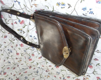 70's shoulderbag, brown, TOP!