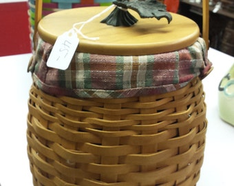 Longenberger 2000 pumpkin basket with lid