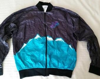 1st Denver International Marathon Tyvek lightweight warm up jacket 1993