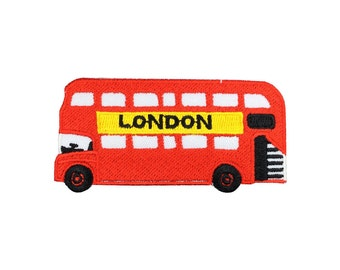 London double-decker bus Patch Iron On Patches