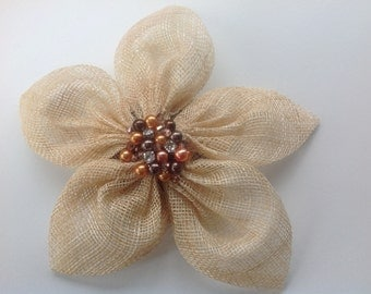 Handmade Sinamay Flower Fascinator