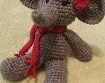 Crocheted Stuffed Elephant