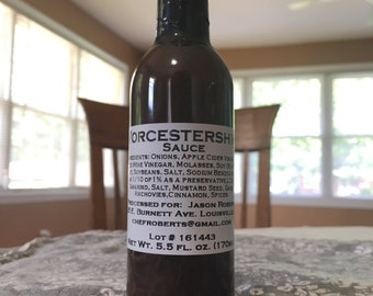 Aged Worcestershire Sauce Craft Steak Sauce Umami Flavors 100% MONEY BACK GUARANTEE