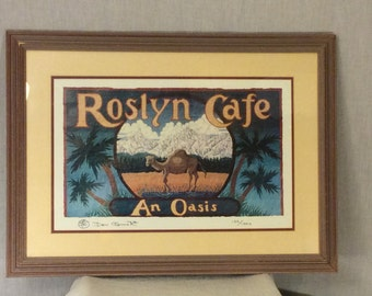 """Don O'Conner signed and numbered print """"Roslyn Cafe"""" w/COA"""