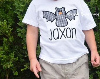 Halloween Bat Applique Shirt