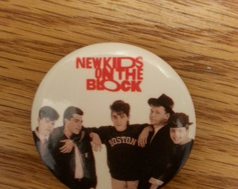 New Kids on the Block Vintage Pin 1989