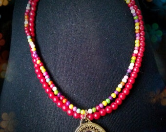Friday Kahlo ,necklace, jewelry,famous Mexican Pinter