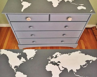 Travel Inspired Chest of Drawers, A commissioned piece