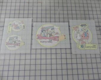 3 Sheets Vintage Hanna Barbera The Flinstones Iron Transfers, 4 transfers total