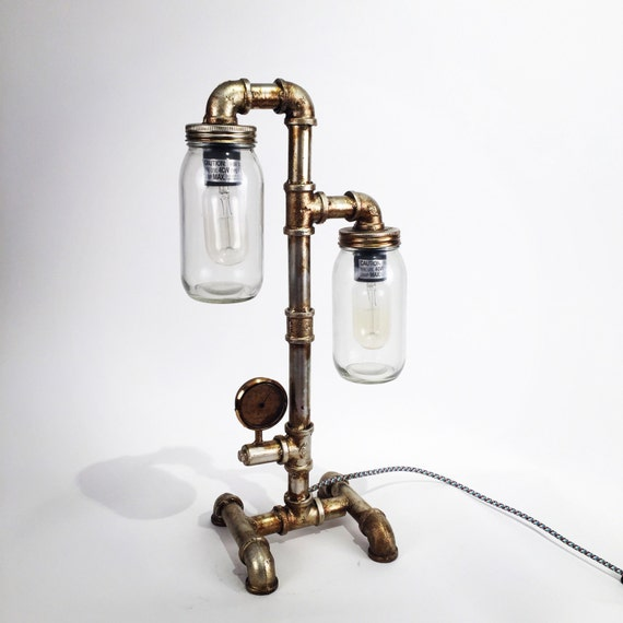 Industrial retro pipe lamp