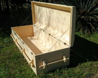 casket,traditional style casket,green burial casket,rustic casket,Wood Casket,Rustic style Casket,Classic Style Casket,Casket with dome lid